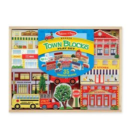 Melissa & Doug 4796 - M&D - WOODEN TOWN PLAY SET