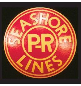 CUSTOM 26256 - P.R SEASHORE LINES Railroad Emblem Plate