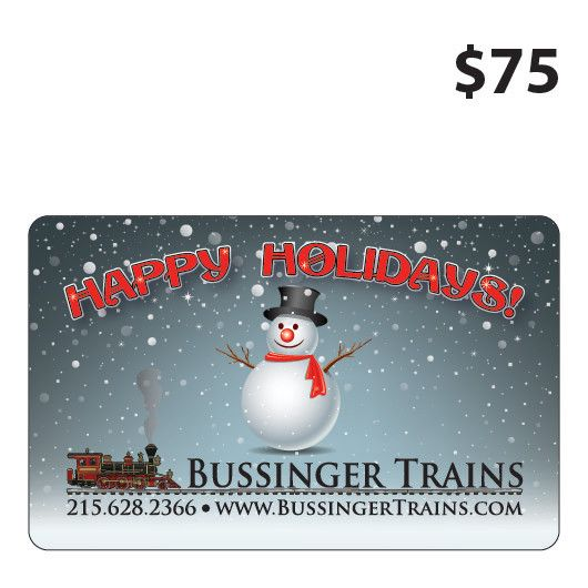 Bussinger Trains $75 Gift Card
