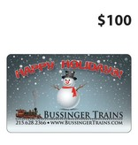 Bussinger Trains $100 Gift Card