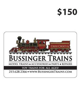 Bussinger Trains $150 Gift Card