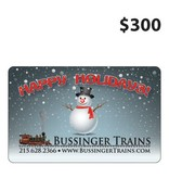 Bussinger Trains $300 Gift Card