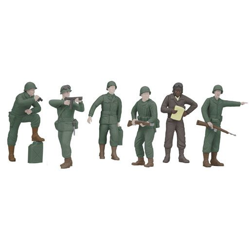 MTH - RailKing 3011059	 - 	ARMY Figure 6pc Set