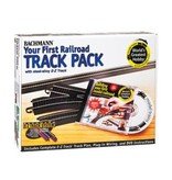 BACHMANN 44497 YOUR FIRST RAILROAD TRACK PACK - HO (EZ STEEL ALLOY)