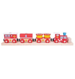 Big Jig Toys FIRE & RESCUE WOODEN TRAIN