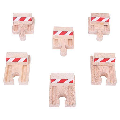 Big Jig Toys BUFFERS SET - Wooden Track