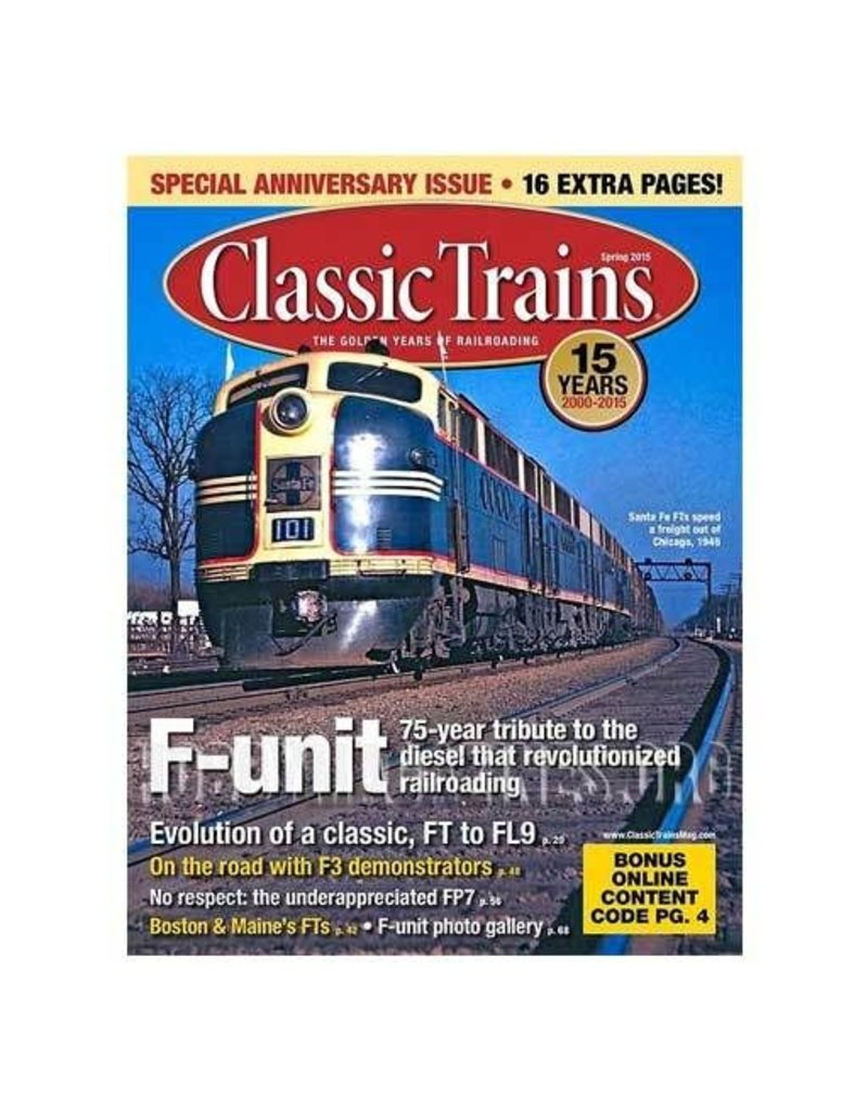 2004	 - 	CLASSIC TRAINS SPRING 2015