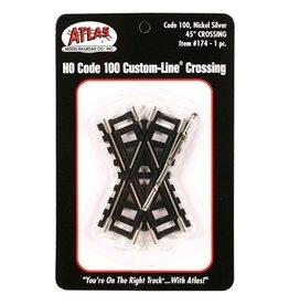 ATLAS 174 - HO 45 DEGREE CROSSING