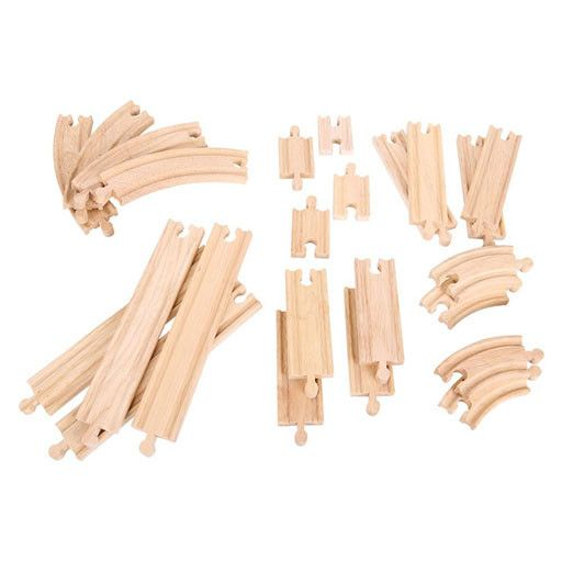 Big Jig Toys CURVES & STRAIGHTS WOODEN TRACK EXPANSION PACK