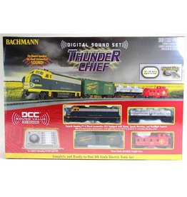 BACHMANN 826 THUNDER CHIEF SET - HO - DCC Train Set, Santa Fe (DCC sound-equipped)