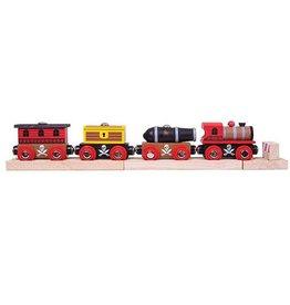 Big Jig Toys PIRATE TRAIN SET - WOODEN TRAIN SET