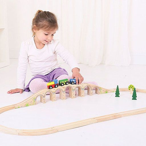 Big Jig Toys RAILWAY VIADUCT - WOODEN TRAIN TRACK