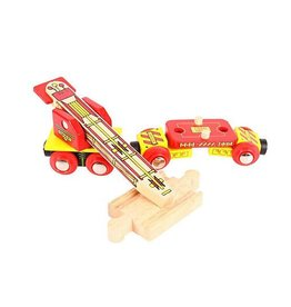 Big Jig Toys TRACK LAYING WAGON - WOODEN TRAIN CAR