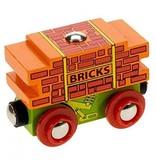 Big Jig Toys BRICK WAGON - WOODEN TRAIN CAR