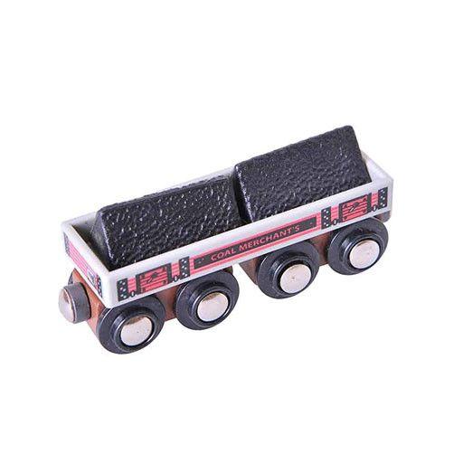 Big Jig Toys BIG COAL WAGON - WOODEN TRAIN CAR
