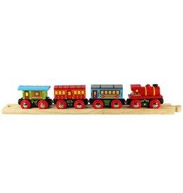Big Jig Toys PASSENGER TRAIN - WOODEN TRAIN SET