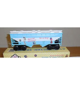 K-Line 6242 - Special Addition It's A Baby Boy 2-Bay Hopper O Gauge Toy Train w/ Booties