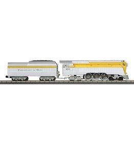 MTH - RailKing 301693-1 C & O   4-6-4 Streamlined Hudson Steam Engine w/ Proto sound