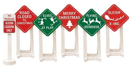 Lionel 6-37185 CHRISTMAS RAILROAD SIGNS