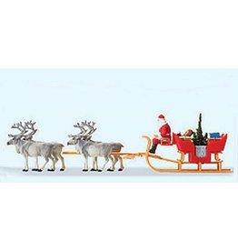 Preiser Christmas Sleigh with Reindeer  HO