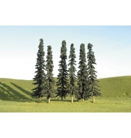 "BACHMANN CONIFER TREES - 6 PACK - 5""-6"""