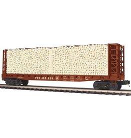 MTH - Premier 20-95169 PRR bulkhead flat car w/ log load