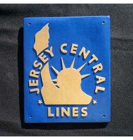 CUSTOM 26248 - JERSEY CENTRAL LIBERTY Railroad Builder Emblem Plate - COLOR VARIATIONS
