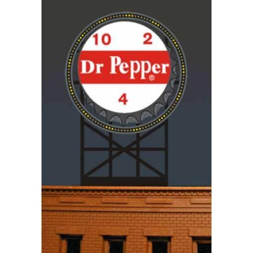 Miller Engineering 2681 - ANIMATED LIGHTED BILLBOARD Dr PEPPER