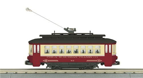 MTH - RailKing 305143	 - 	PHILADELPHIA BUMP-N-GO TROLLEY