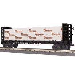 MTH - RailKing 30-76652 - FLAT CAR W/BULKHEADS & LUMBER LOAD