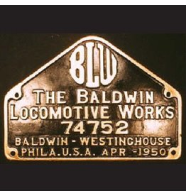 CUSTOM 26202 - Baldwin Locomotive Works Builder Plate