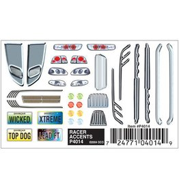PINECAR 4014	 - 	PINECAR DECAL RACER ACCENTS