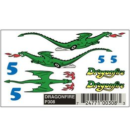 PINECAR 308	 - 	PINECAR DRAGONFIRE DECALS