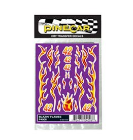 PINECAR 4008	 - 	DECALS BLAZIN' FLAMES