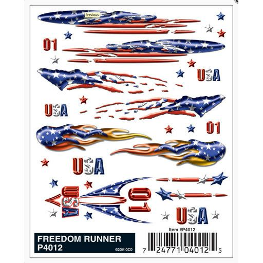 PINECAR 9724012 - DECALS FREEDOM RUNNER