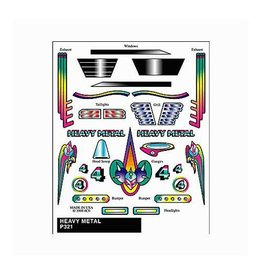PINECAR 321	 - 	DECALS HEAVY METAL