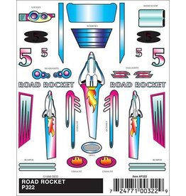 322	 - 	DECALS ROAD ROCKET