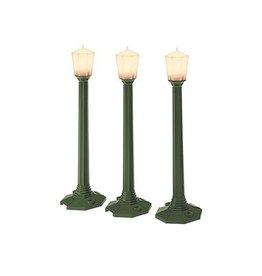 Lionel 29247 - STREET LAMPS 3 pcs DIE CAST GRE