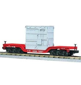 MTH - RailKing 307612 - Flat Car - Depresssed Center Flat MTH Construction w/Transformer