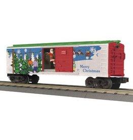 MTH 3079312 - BOX CAR Christmas W/siginal man