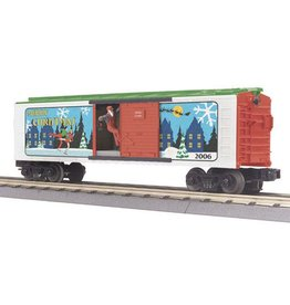 MTH 3079141	 - 	BOX CAR CHRISTMAS W/SIGNAL MAN 2006