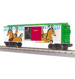 MTH 3079376	 - 	BOX CAR CHRISTMAS W/SIGNAL MAN