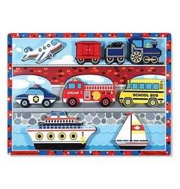 Melissa & Doug 2051	 - 	M&D CHUNKY PUZZLE - VEHICLES