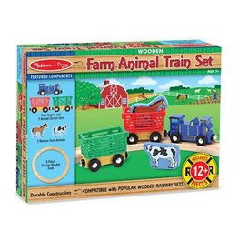 Melissa & Doug 2132	 - 	M&D FARM ANIMAL TRAIN SET