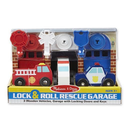Melissa & Doug 2065	 - 	M&D LOCK & ROLL RESCUE GARAGE