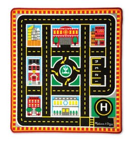 Melissa & Doug 2058	 - 	M&D ROUND THE CITY RESCUE RUG & VEHICLE SET