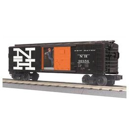 MTH - RailKing 3079473	 - 	BOX CAR NEW HAVEN W/SIGNAL MAN