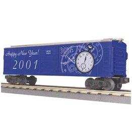MTH - RailKing 3074017 - BOX CAR NEW YEARS 2001