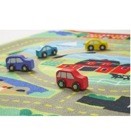 Melissa & Doug 2056	 - 	M&D ROUND THE TOWN ROAD RUG & CAR SET