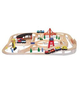 Melissa & Doug 2131	 - 	M&D DELUXE WOODEN RAILWAY SET